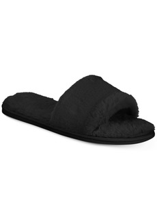 INC International Concepts I.n.c. Women's Faux-Fur Slide Slippers, Created for Macy's