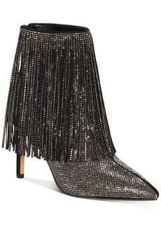 INC International Concepts Inc Women's Ismeria Fringe Bling Booties, Created for Macy's Women's Shoes
