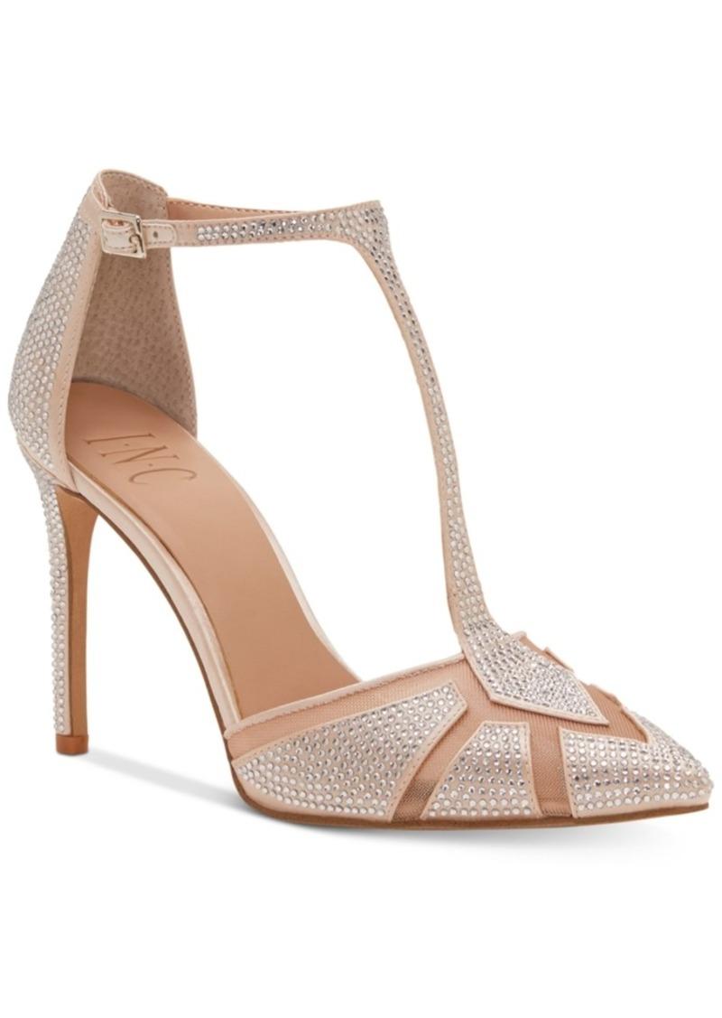 INC International Concepts I.n.c. Women s Karsyn T-Strap Evening Sandals
