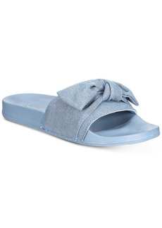 INC International Concepts I.n.c. Women's Knotted Slide Slippers, Created for Macy's