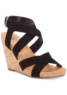 INC International Concepts Inc Women's Landor Strappy Wedge Sandals, Created for Macy's Women's Shoes