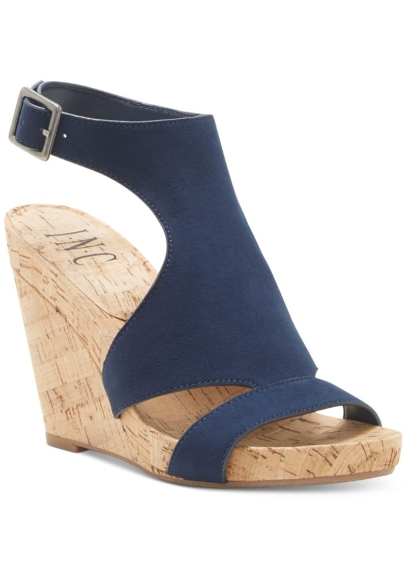 INC International Concepts Inc Women's Lizanne Shielded Wedge Sandals, Created for Macy's Women's Shoes