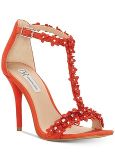 I.n.c. Women's Rosiee T-Strap Embellished Evening Sandals, Created for Macy's Women's Shoes