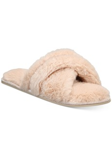 INC International Concepts Inc Women's Super Soft Faux-Fur Slippers, Created For Macy's