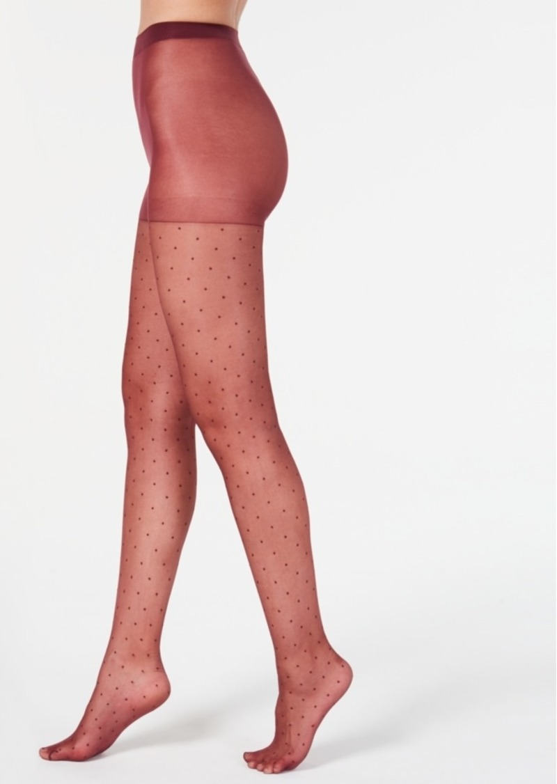 INC International Concepts Inc Women's Swiss-Dot Tights, Created For Macy's