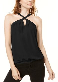 INC International Concepts Inc Woven Keyhole Halter Top, Created for Macy's