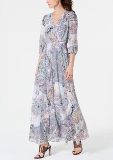 INC International Concepts I.n.c. Woven Long-Sleeve Paisley Maxi Dress, Created for Macy's