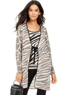 INC International Concepts Inc Zebra Completer Sweater, Created For Macy's