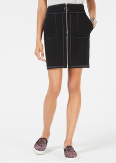 INC International Concepts Inc Zip-Front Mini Skirt, Created for Macy's