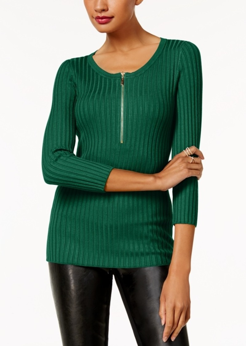 INC International Concepts Inc Zip-Front Sweater, Created for Macy's