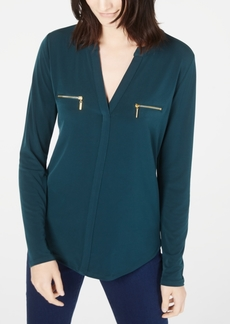 INC International Concepts I.n.c. Zip-Pocket Blouse, Created for Macy's