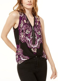 INC International Concepts Inc Zipper Tank Top, Created for Macy's