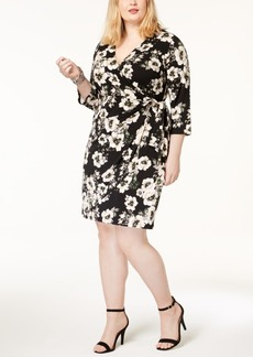 INC International Concepts I.n.c Plus Size Printed Faux-Wrap Dress, Created for Macy's