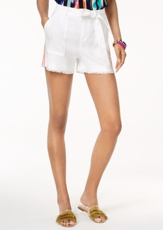 INC International Concepts Trina Turk x I.n.c. Linen Blend Belted Shorts, Created for Macy's