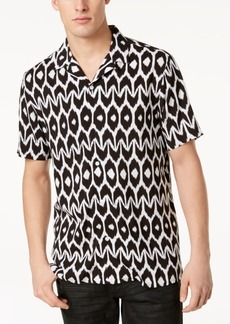 INC Mr. Turk x I.n.c. Men's Geometric Camp Collar Shirt, Created for Macy's