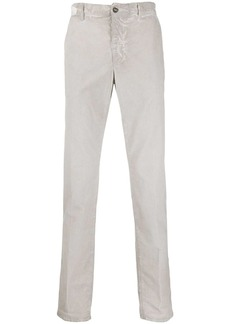 Incotex brushed straight-leg trousers