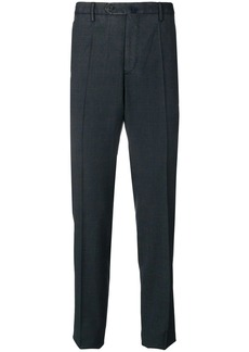 Incotex checked straight-leg trousers