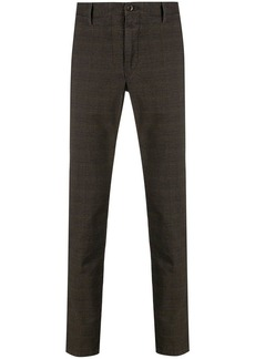 Incotex checked straight leg trousers