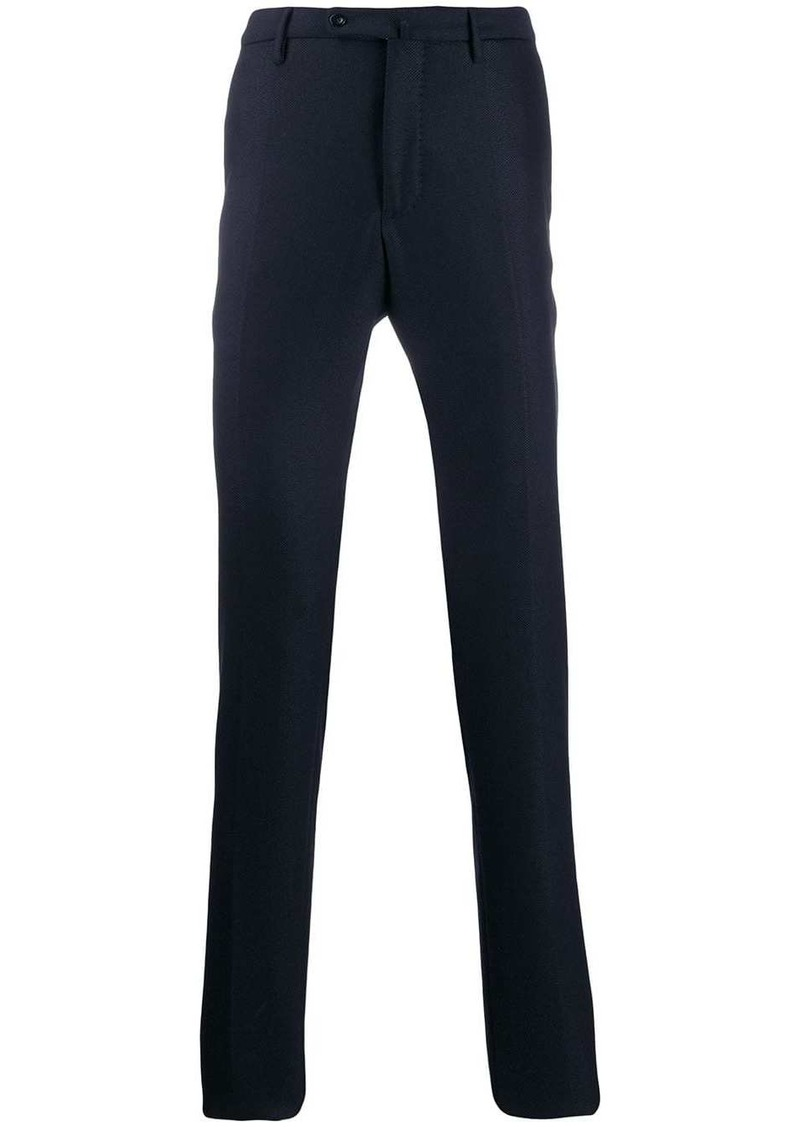 Incotex creased slim fit trousers