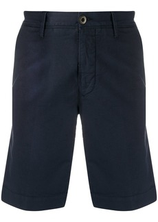 Incotex front logo patch multi-pocket shorts