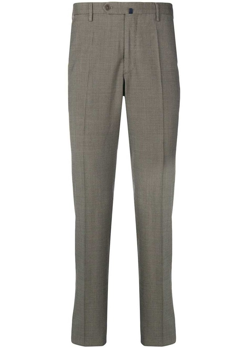 Incotex houndstooth straight-leg trousers