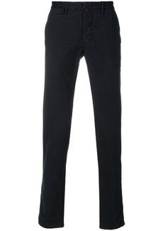 Incotex checked straight leg trousers