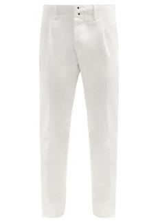 Incotex Cotton-blend slim-leg pleated chino trousers