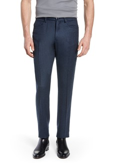Incotex Five-Pocket Solid Wool Trousers