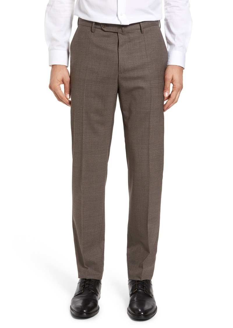 Incotex Flat Front Check Wool Trousers