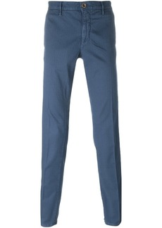 Incotex front pleat trousers - Blue