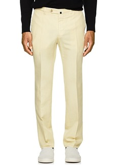 Incotex Men's B-Body Classic-Fit Linen-Cotton Chinos