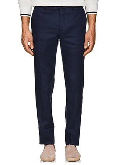 Incotex Men's M-Body Modern-Fit Linen Trousers