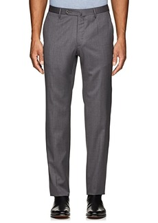 Incotex Men's Morgan Flat-Front Wool Trousers