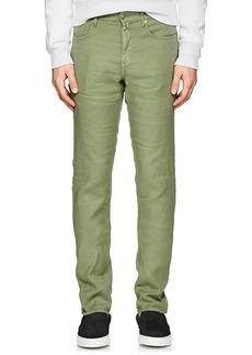 Incotex Men's Ray 5-Pocket Linen-Blend Pants