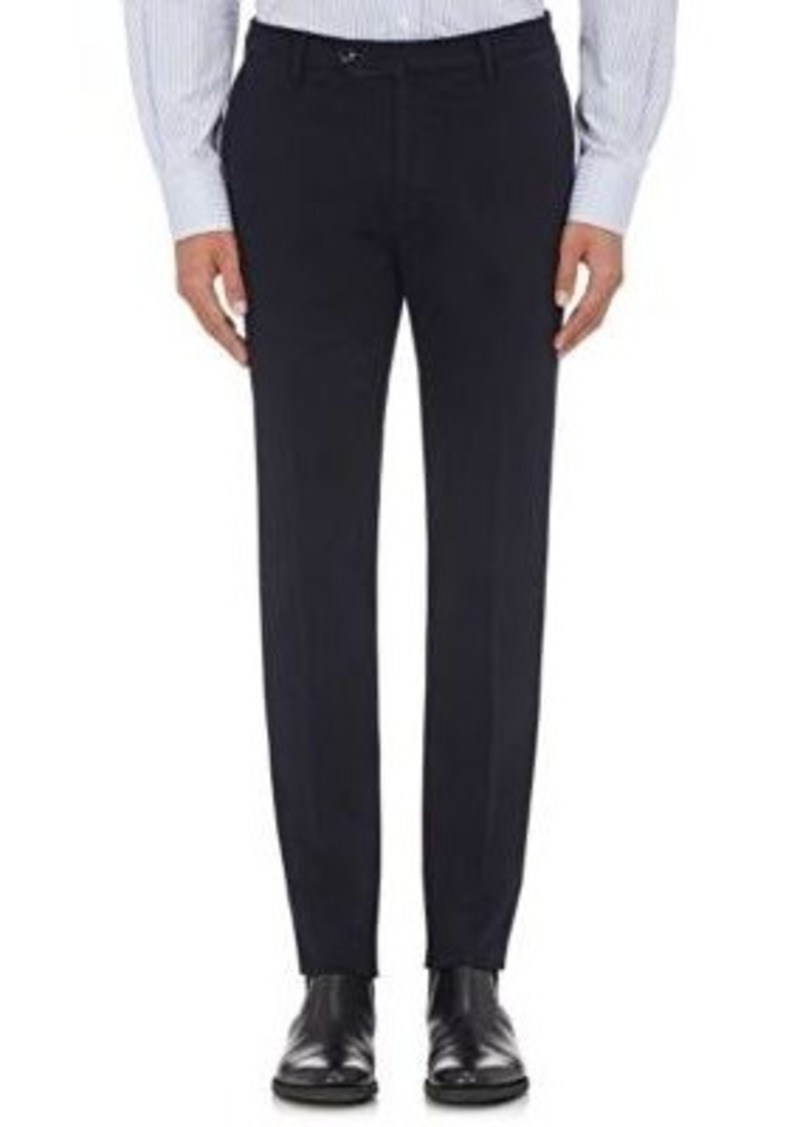 Incotex Men's S-Body Slim-Fit Stretch-Cotton Trousers-Navy Size 34