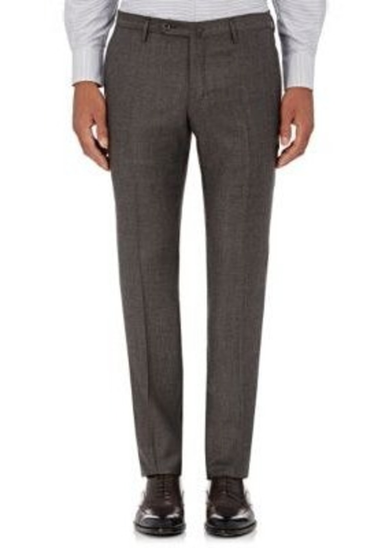 Incotex Men's S-Body Slim-Fit Wool Trousers-Grey Size 36