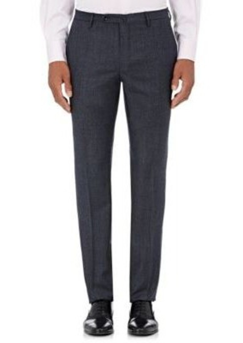 Incotex Men's S-Body Slim-Fit Wool Trousers-Navy Size 38
