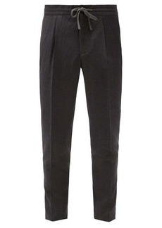 Incotex Pleated checked wool-flannel tapered trousers
