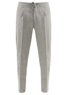 Incotex Pleated wool-flannel tapered-leg trousers