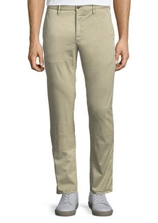 Incotex Washed Chino Flat-Front Trousers