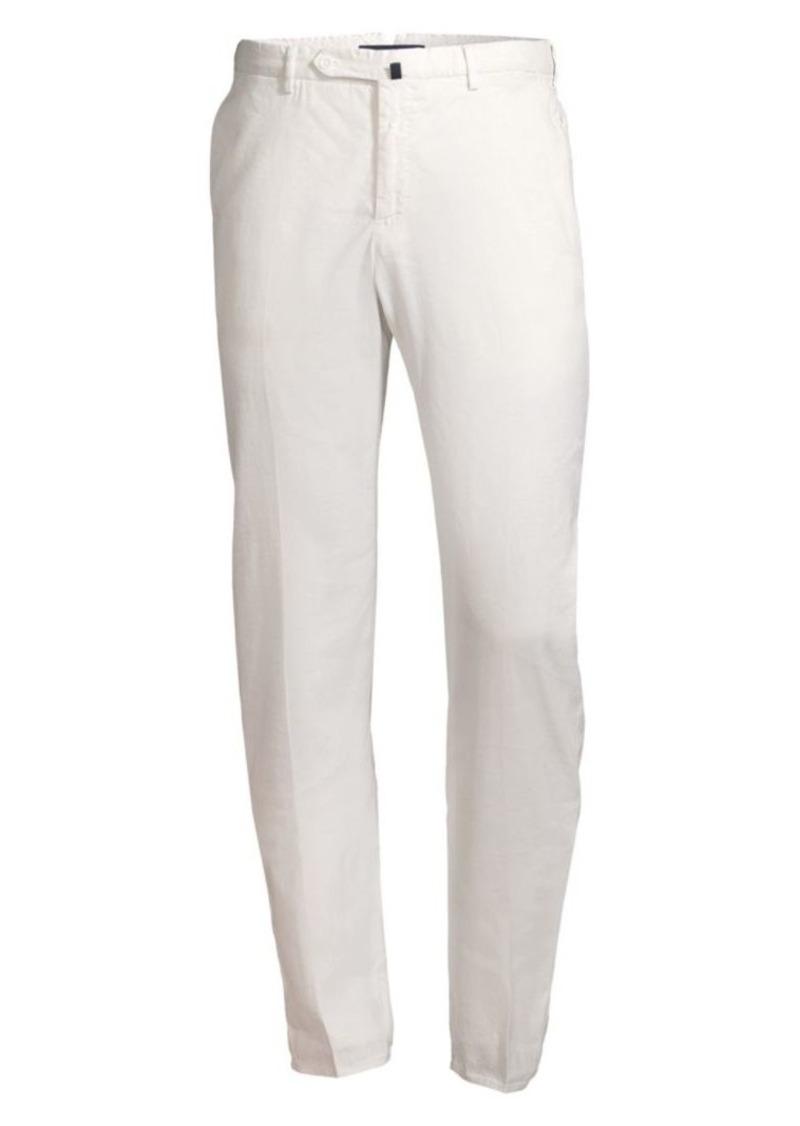 Incotex Linen-Blend Pintuck Trousers