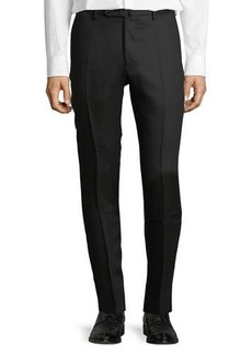Incotex Linen Flat-Front Straight-Leg Pants