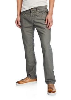 Incotex Men's 5-Pocket Chino Flat-Front Pants
