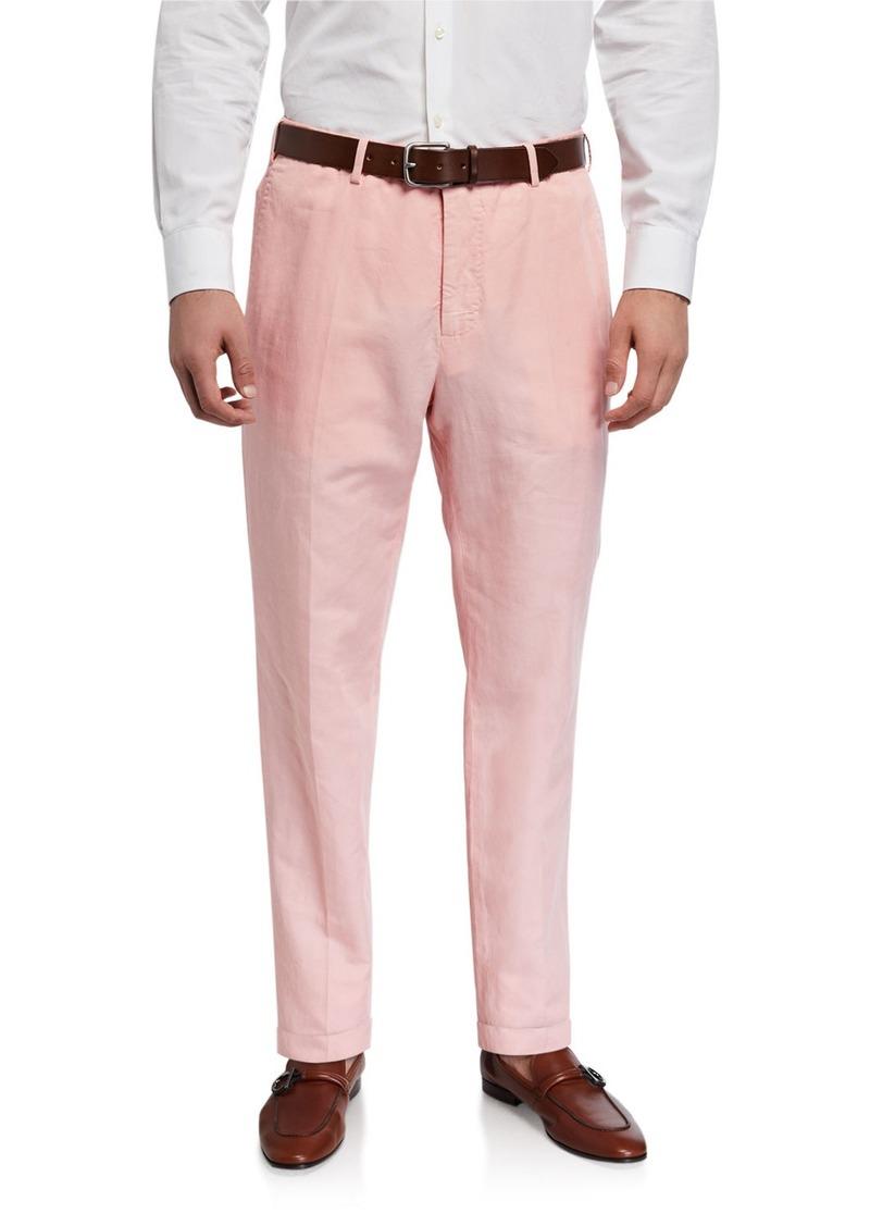 Incotex Men's Benn Standard-Fit Chinolino Pants