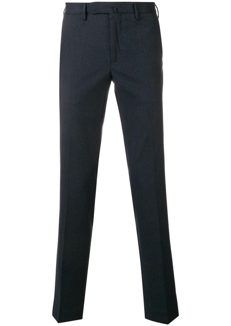 Incotex micro pattern slim-fit trousers