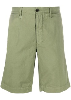 Incotex patch detail cotton blend bermuda shorts