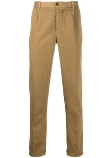 Incotex plain regular-length chinos