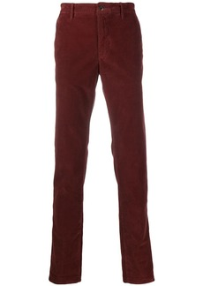 Incotex plain regular length trousers