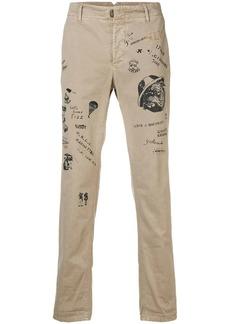 Incotex printed slim fit trousers