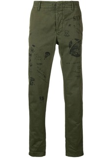 Incotex stamped straigh-leg trousers
